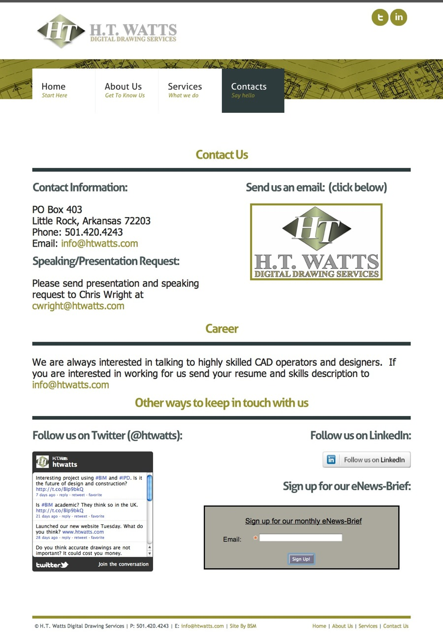 H.T. Watts Digital Drawing Services