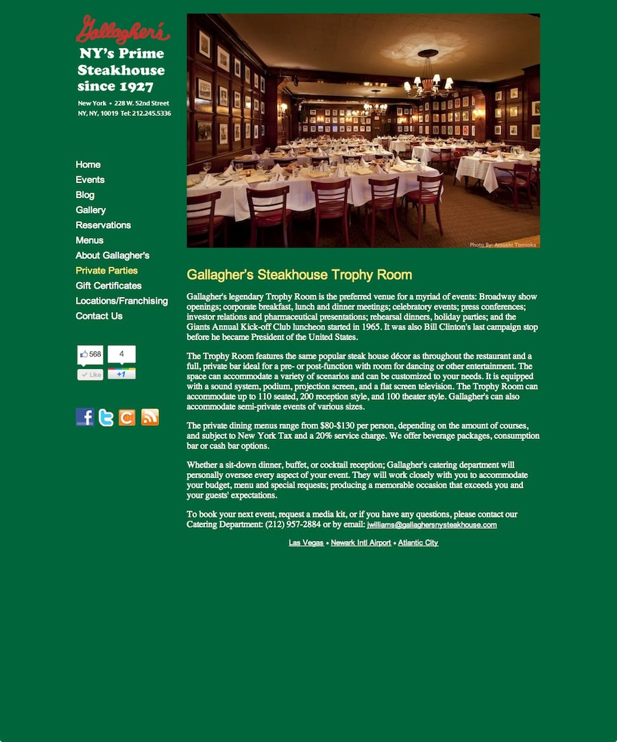 Gallaghers Steakhouse, Inc.