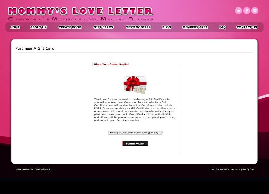 Mommys Love Letter