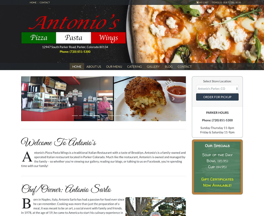 Antonio's Pizza Pasta Wings