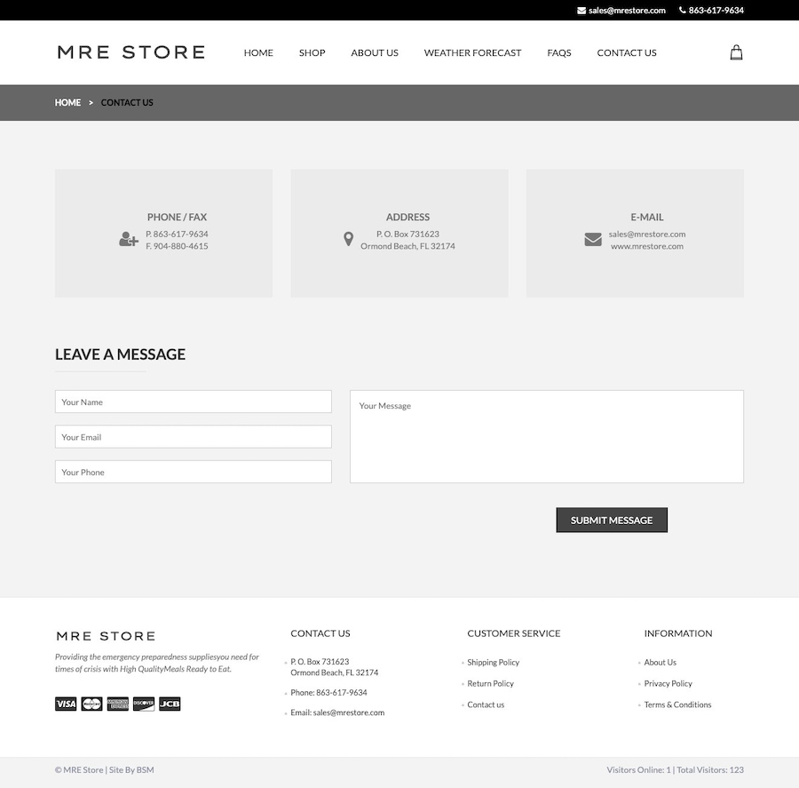 MRE Store