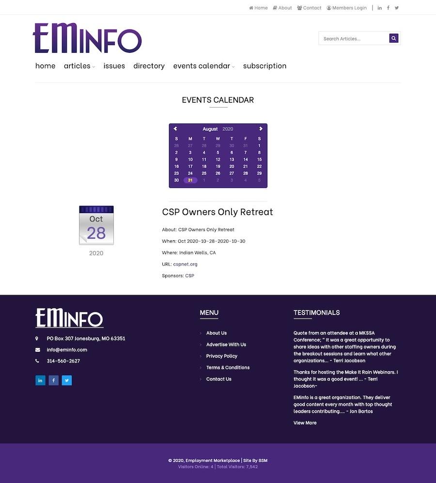 EMInfo - Employment Marketplace